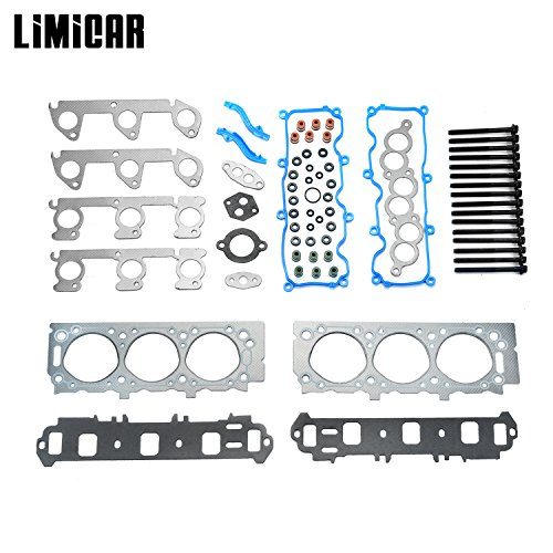 LIMICAR Cylinder Head Gasket Set with Head Bolts For 1998 1999 2000 2001 Ford Ranger Mazda B3000 3.0L V6 HS9902PT ES72174