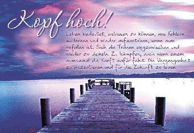 Cartolini Klappkarte Mit Spruchen 029 Kopf Hoch Leben Bedeutet