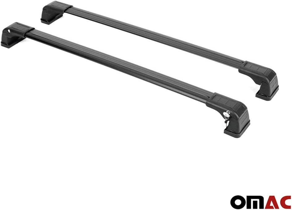 OMAC GmbH Dachtr/äger f/ür Soul 2 ab 2014 Gep/äcktr/äger Relingtrager Aluminium Schwarz