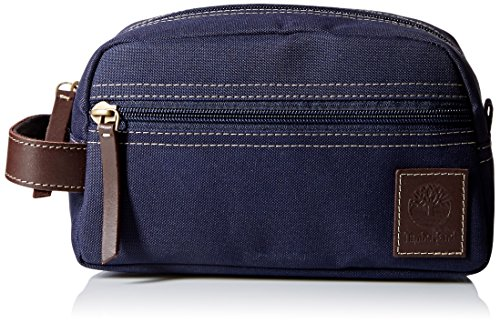 Timberland Men's Toiletry Bag Canvas Travel Kit Organizer, Navy, One Size