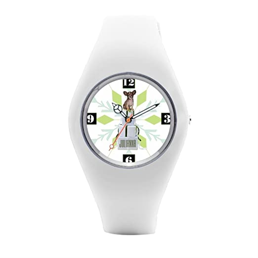 Para hombre muñeca relojes Marcas de Navidad perro silicona relojes para hombres: Amazon.es: Relojes