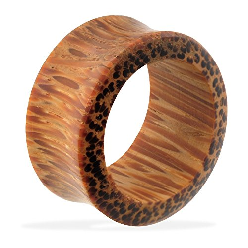Pair Of Organic Coconut Wood Tunnels, Gauge: 1 3/32