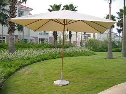8u0027 X 11u0027 Royal Rectangular Market Umbrella   (Cover: Natural) (