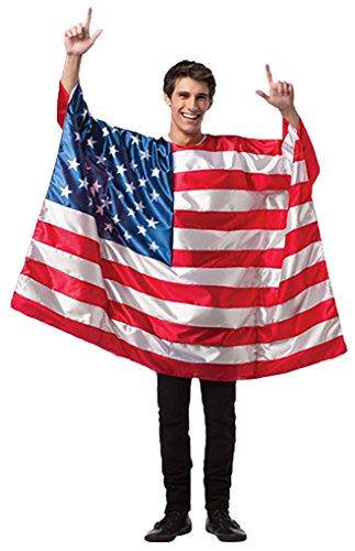 Adult Flag Tunic Costume (USA) (Usa Flag Adult Tunic Costume)