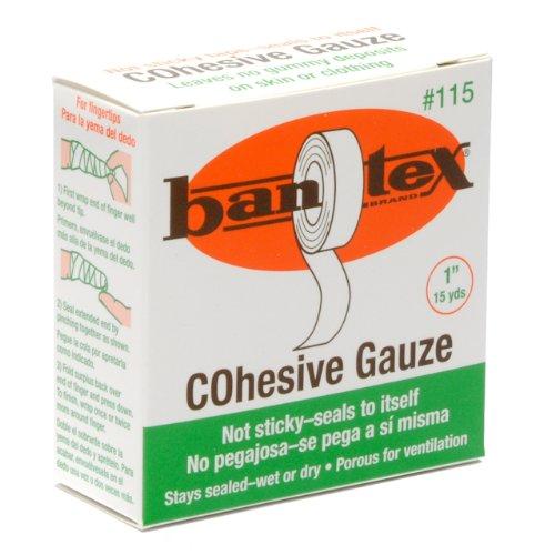 1' Finger - Bantex Cohesive Safety Finger Tape 1'' X 15 Yard Roll