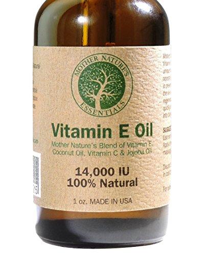Vitamin E Oil Blend Pure & Natural 14000IU(d-alpha tocopherol)+Jojoba Oil+Vitamin C+Coconut Oil. Unique Nourishing Oils Known to Assist Diminish Fine Lines, Stretch Marks, Promoting Cell Regeneration.