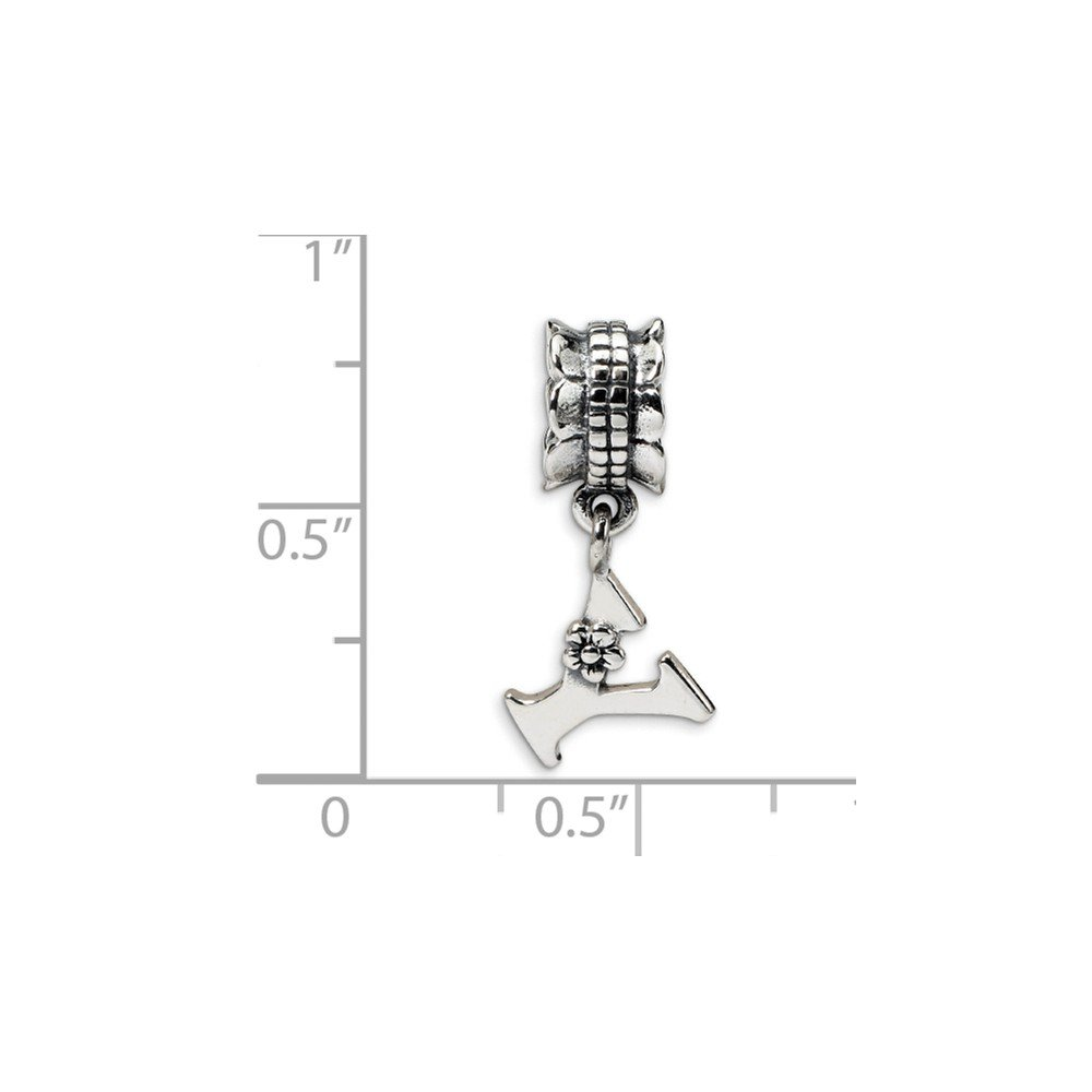Jewel Tie 925 Sterling Silver Reflections Letter Y Dangle Bead 8.2mm x 18.2mm