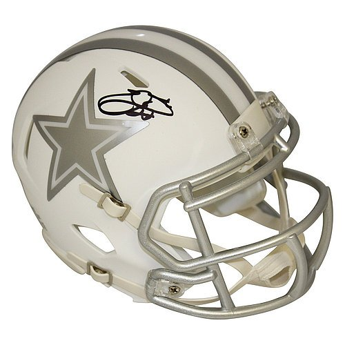 Emmitt Smith Dallas Cowboys Autographed Riddell Speed Alternate ICE Mini Helmet - PSA/DNA and PROVA Authentication ()