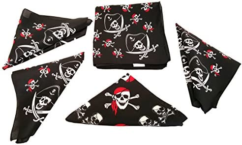 picture of Playscene Pirate Bandana's for Children or Adults (12 Pirate