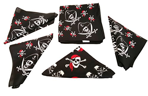 Pirate Bandana's For Children or Adults, By Playscene (12 Pirate Bandana)