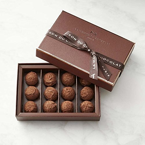 La Maison du Chocolat Dark Chocolate Truffles 12-piece by La Maison du Chocolat (Image #1)