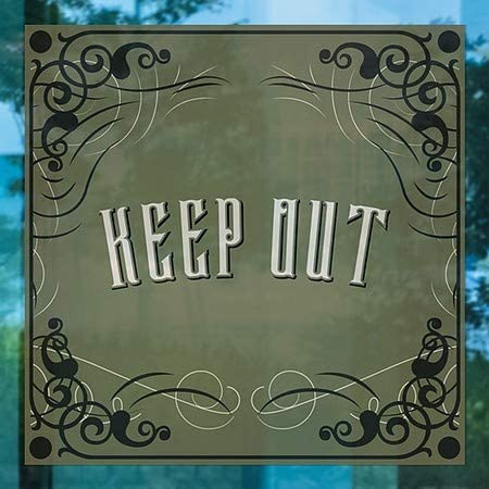 CGSignLab 24x24 Victorian Gothic Window Cling 5-Pack Keep Out