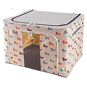 Image of Home and Kitchen Carl Artbay Laundry Basket Large Cube Storage Boxes with Lids 40L Foldable Fabric Storage Box with Handles for Clothes Toys Books Bedding (Color : Beige, Size : 66L)