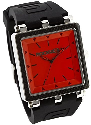 Rockwell Time Men's CF Dial Watch, Black Case/Red
