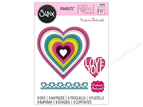 Sizzix Framelits, Hearts Dotted -