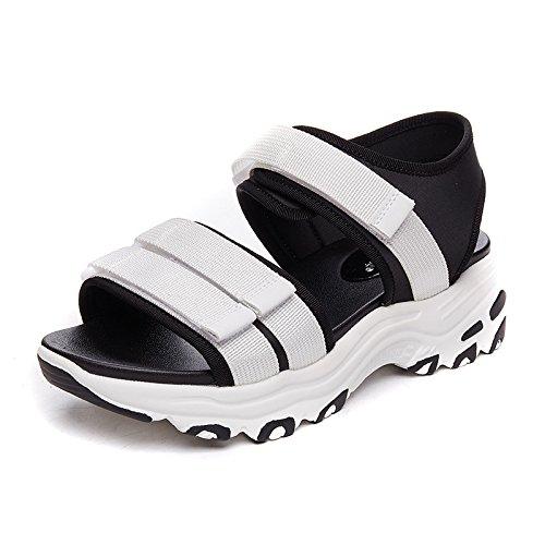 NGRDX&G Sandalias, Plataforma Femenina, Sandalias, Zapatos De Mujer White