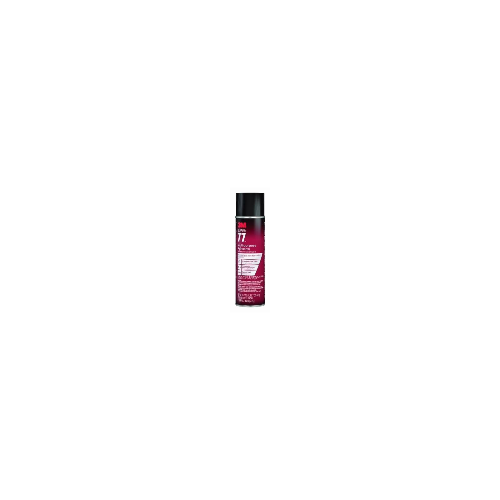 3M Super 77 Multipurpose Spray Adhesive 30% VOC, 16.7 oz, Pack of 12 cans