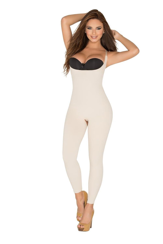 0ebb09d0a954b ShapEager Shapewear Full Body Shaper Open-Bust Capri Faja Pescador Bodysuit