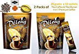 2 packs (20 sachets) De'Long ( Delong ) 4 in 1 Premium Durian Coffee - Real Durian and Best Coffee from Thailand - 20 grams x 10 sachets each pack