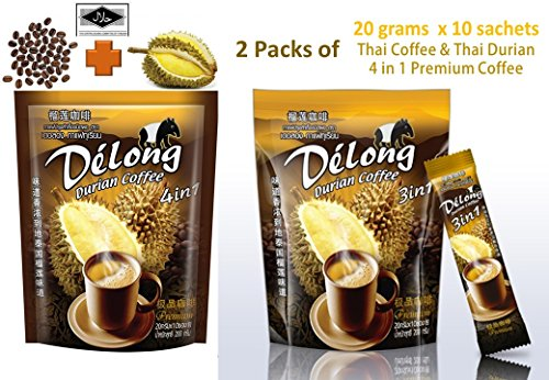2-packs-20-sachets-DeLong-Delong-4-in-1-Premium-Durian-Coffee-Real-Durian-and-Best-Coffee-from-Thailand-20-grams-x-10-sachets-each-pack