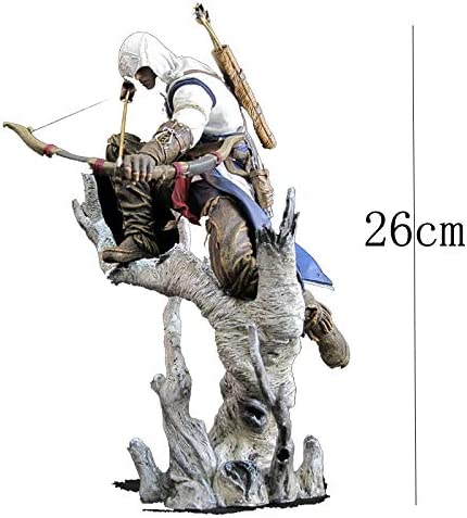 SONGDP Anime suit Assassins Creed Anime Model Connor Archery Style Decoration Toy Model Cartoon Anime Character Sculpture Gift Collection Crafts 26cm Anime character