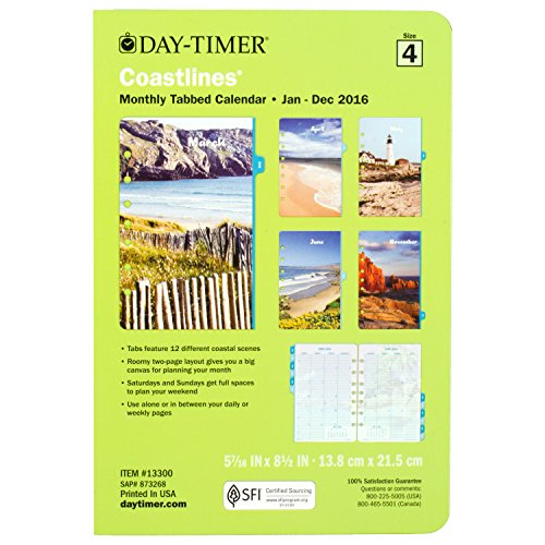 Day Timer Two Page Per Month Refill 2016 12 Months Loose