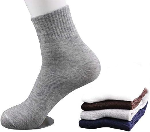 Calcetines de algodón para hombre 10 pares ocasionales Estaciones de Hombres de Negocios calcetines de algodón Primavera Verano Otoño Invierno Colores sólidos Calcetines masculinos calcetines respirab: Amazon.es: Hogar