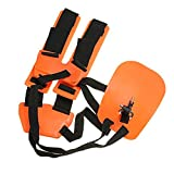 Pushingbest Comfortable Harness Backpack Shoulder Strap for Trimmers Brush Saw Chainsaw Garden Brush Cutter Orange