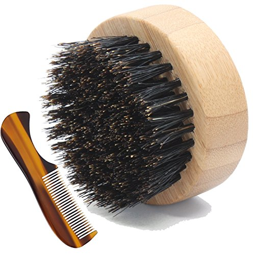 small beard brush with mustache comb for beard grooming comes in travel metal container great. Black Bedroom Furniture Sets. Home Design Ideas