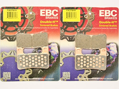 (EBC Sintered Double H Front Brake Pads (2 Sets) 2004-2011 Suzuki GSX-R1000 / FA379HH)