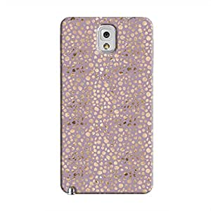 Cover It Up - Brown Violet Pebbles Mosaic Galaxy Note 3 Hard Case