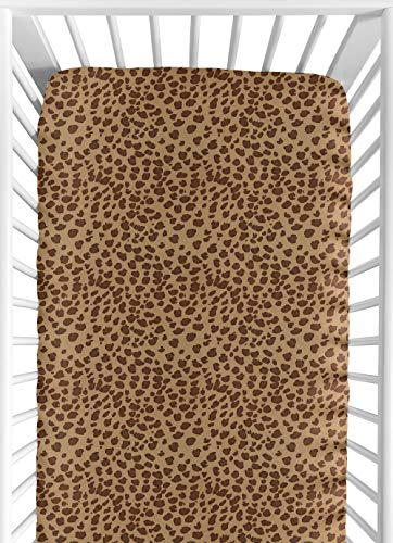- Sweet Jojo Designs Cheetah Girl Fitted Crib Sheet for Baby and Toddler Bedding Sets - Cheetah Print