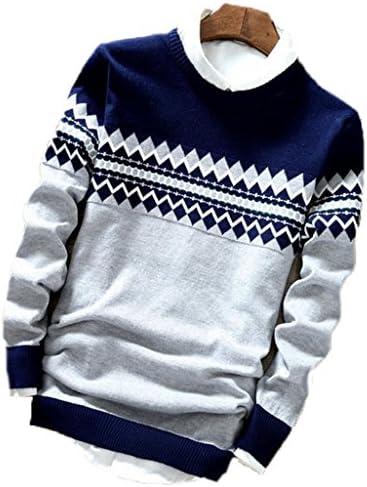GuDeKeメンズ ニットセーター 薄い 大きいサイズ 長袖 セーター 丸首 カジュアル カーディガン通学 秋 冬