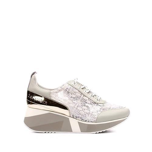 CafèNoir Donna Sneakers in Pizzo con Zeppa Decorata Collezione 2019