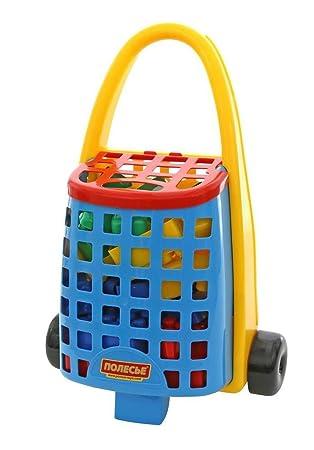 Polesie - 46888 Maleta con ruedas con 38 piedras de construcción de bebé