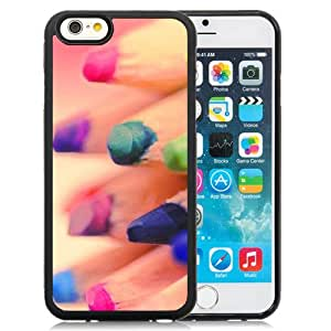 """Beautiful iPhone 6 4.7"""" TPU Cover Case ,Abstract Colorful Pencil Refill Bokeh Black iPhone 6 4.7"""" TPU Phone Case Unique And Durable Designed Screen Case"""