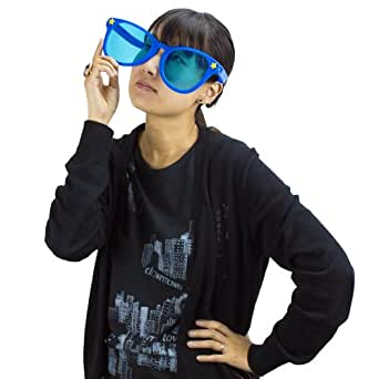 Blue Jumbo Sun Glasses By Pudgy Pedro's Party Supplies