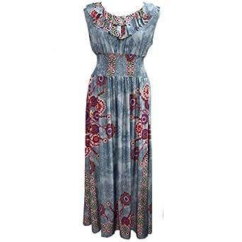 Venetia Morton Floral Print Dress Pencil Dress Sleeveless Bodycon Sheath Office Dresses brown L