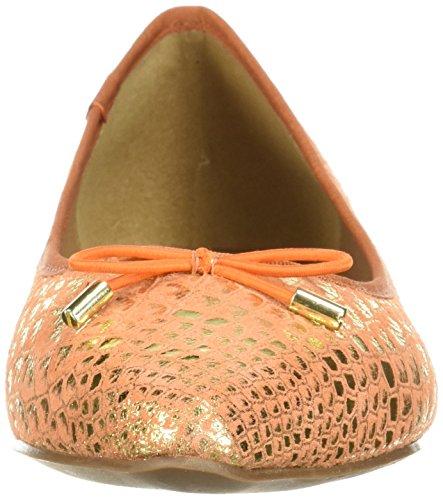 French Sole Fs / Ny Womens Anaconda Ballet Flat Orange