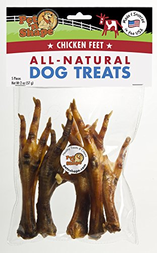 Pet 'N Shape - Made In Usa - All Natural Dog Chewz Chicken Feet Treat, 5 Count]()