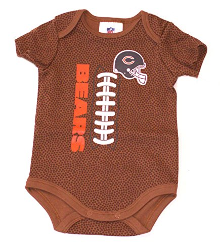 NFL Chicago Bears Unisex-Baby Football Bodysuit, Brown, 3-6 Months -