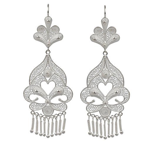 NOVICA .925 Sterling Silver Chandelier Earrings 'Path of ()