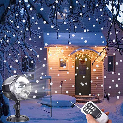 JEESA Christmas Snow Projector Lights, Outdoor Remote Control
