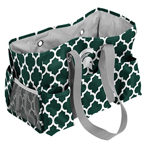 State Michigan Tote (Logo Brands Michigan State Spartans Patterned Multi-Pocketed Junior Caddy)