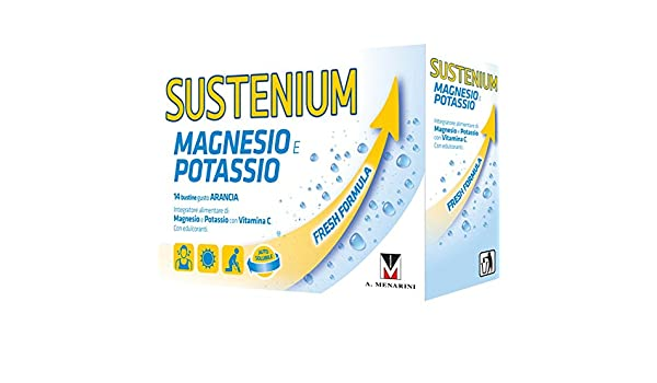 Amazon.com: Menarini Sustenium Magnesium and Potassium Food Supplement 14 Sachets: Health & Personal Care