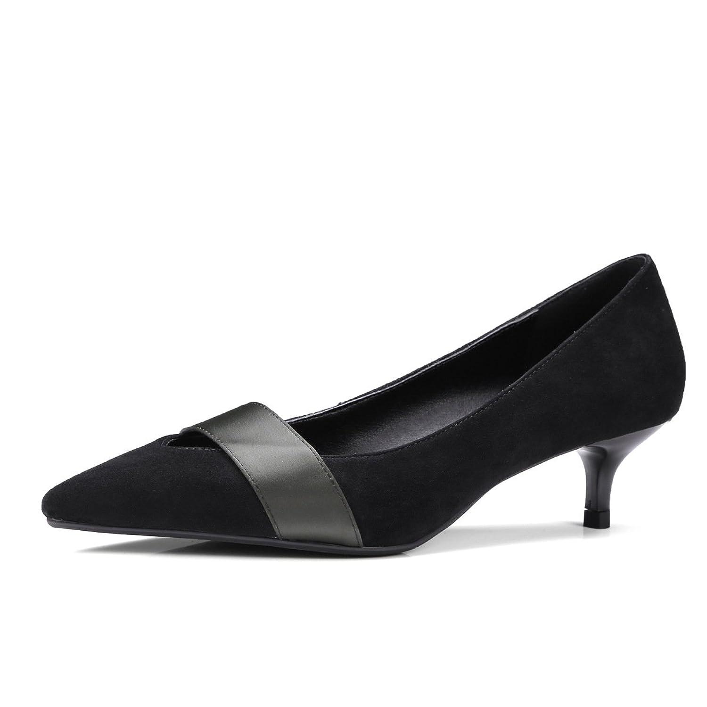Chaussures Femmes Simple Amende Talon Haut a souligné la Bouche Peu  Profonde Grande Taille,Black 6168579ed78d