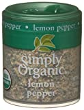 Simply Organic Lemon Pepper Certified Organic, 0.71-Ounce Containers (Pack of 6)