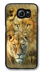 African Royalty Lion Polycarbonate Hard Case Cover for Samsung S6/Samsung Galaxy S6 Black by lolosakes