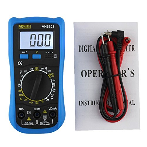 LtrottedJ ANENG AN8202 Digital Multimeter LCD Digital Multimeter DC AC Voltage - Wire Piercing Test Lead Adapters