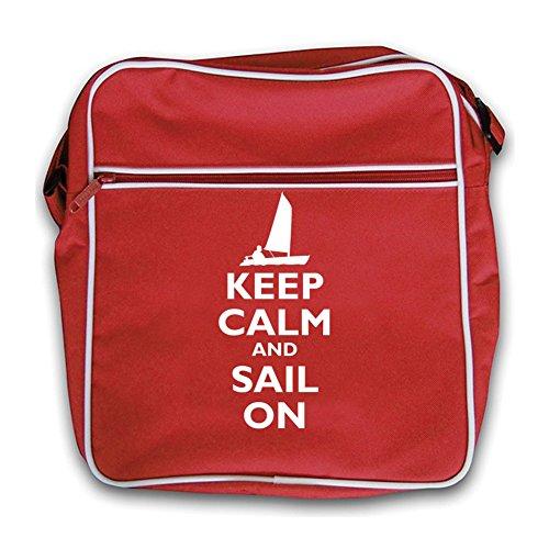 Red Sail and Keep Calm On Bag Flight Retro Black qw8xEHR